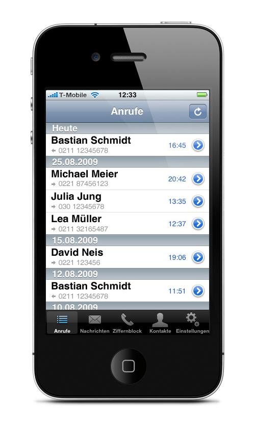 Anruflisten auf iPhone überwachen