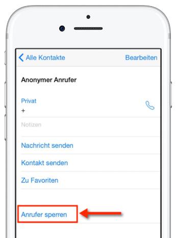 Anrufe bei iPhones blockieren