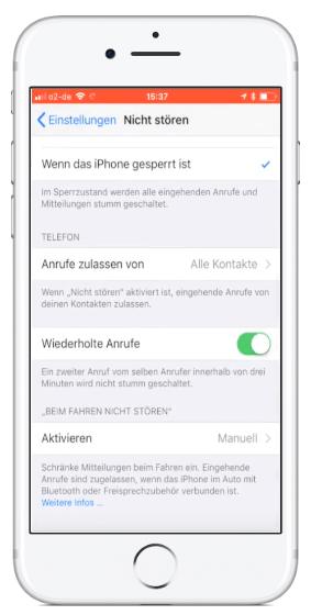 Anonyme Anrufe sperren auf iPhone