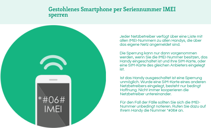 iPhone per IMEI sperren