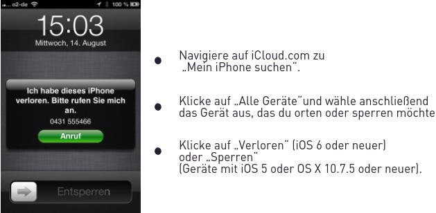 iphone 7 verloren ortung